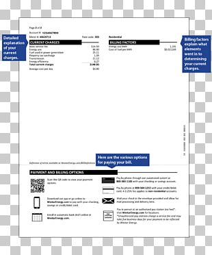 Evergy Invoice Electric Utility Energy Electric Power PNG