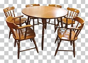Table Chair Dining Room Matbord Mid-century Modern PNG