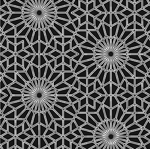 Black And White Ornament Motif Pattern PNG