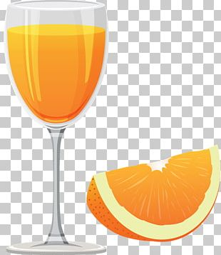 Orange Drink Orange Juice Wine Glass Cocktail Garnish PNG