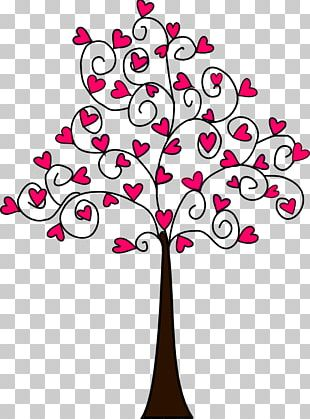 Tree Heart Drawing PNG