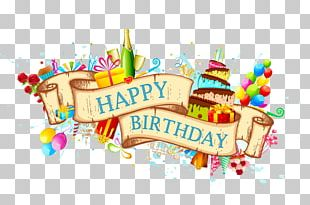Birthday Cake Greeting Card PNG