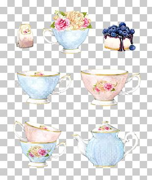 Teapot Yum Cha Watercolor Painting PNG