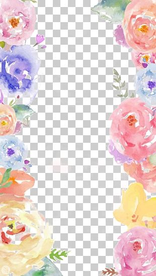 Watercolor Painting Flower Arranging Color PNG