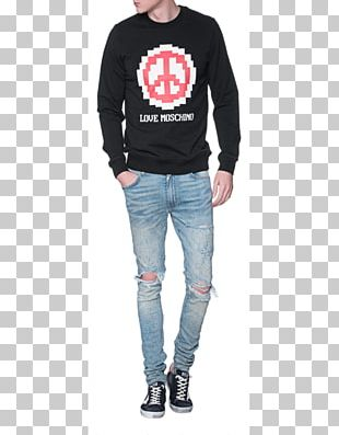 Jeans Long-sleeved T-shirt Hoodie Long-sleeved T-shirt PNG