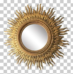 Mirror Hollywood Decorative Arts Gold PNG