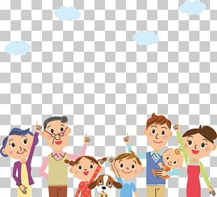 Family Cartoon Illustration PNG
