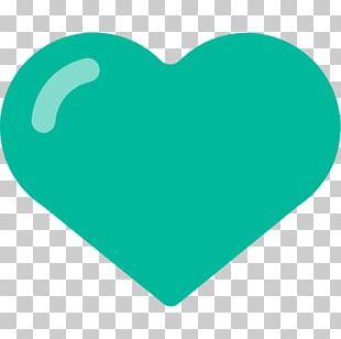 Emoji Green Symbol Heart Sticker PNG