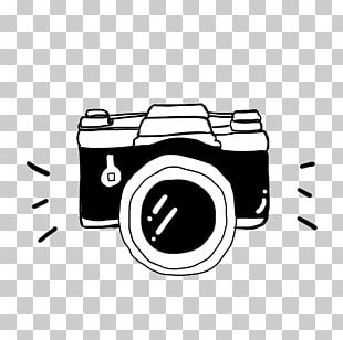 Camera Cartoon Black And White PNG
