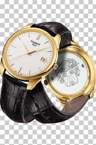 Watch Strap Tissot Gold Jewellery PNG