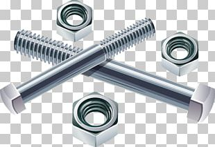Bolt Nut Screw Stainless Steel Fastener PNG