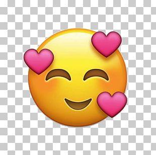 Emoji Heart Sticker Love Emoticon PNG