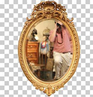 Frames Gold Leaf Mirror PNG