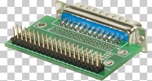 Microcontroller D-subminiature Electrical Connector Parallel Port Electronics PNG