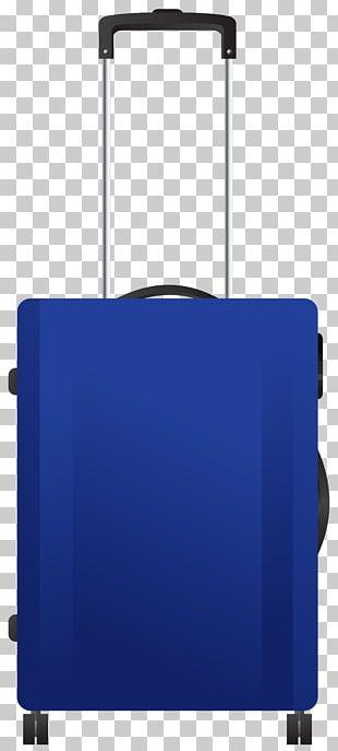 Blue Trolley Travel Bag Transparent PNG