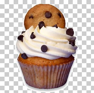 Buttercream Cupcake Muffin Chocolate Chip Cookie Dough PNG