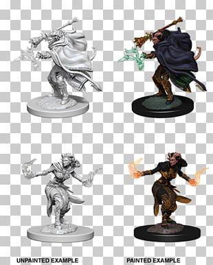Dungeons & Dragons Miniatures Game Warlock Tiefling Miniature Figure PNG