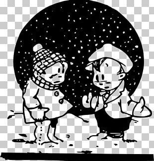 The Snowy Day Black And White PNG