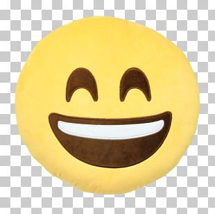 Emoticon Face With Tears Of Joy Emoji Smiley Cushion PNG
