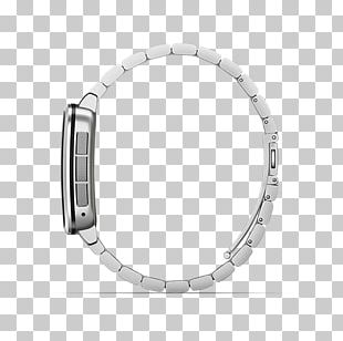Pebble Time Steel Silver Smartwatch PNG