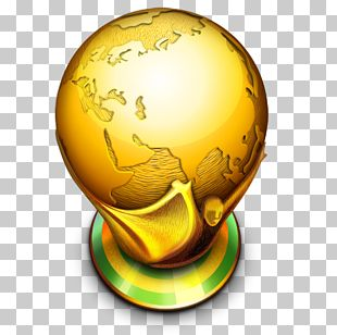 Sphere Globe Yellow PNG
