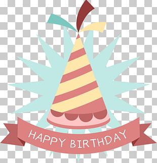 Birthday Party Hat Sticker PNG