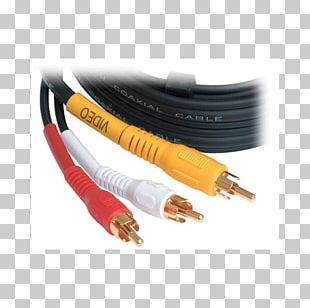 RCA Connector Coaxial Cable Network Cables Electrical Connector Electrical Cable PNG