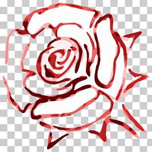 Rose Red Color Flower PNG