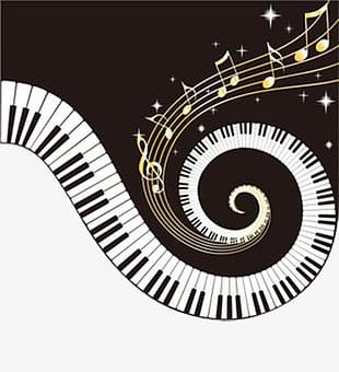 Piano Keys For Spiral Notes PNG