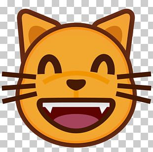 Cat Emoticon Face With Tears Of Joy Emoji Crying PNG