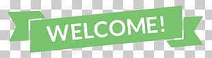 Green Welcome Banner PNG