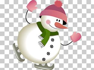 Snowman New Year PNG