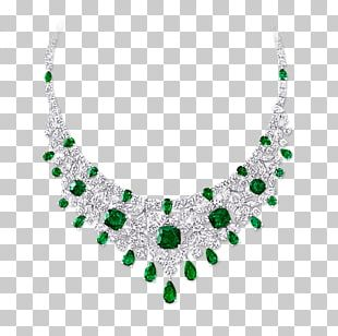 Emerald Earring Necklace Graff Diamonds Jewellery PNG