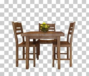 Table Chair Furniture Dining Room Kitchen PNG