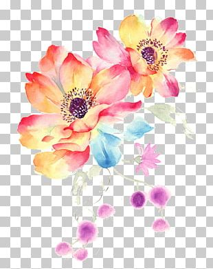 MacBook Pro Watercolor Painting Flower PNG