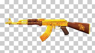 AK-47 Gold Desktop Firearm Assault Rifle PNG
