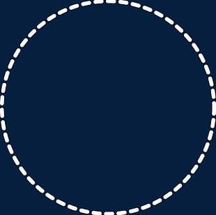 Minimalist Style Dotted Line Circle Circular Border PNG