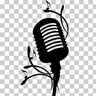 Microphone Silhouette Line PNG