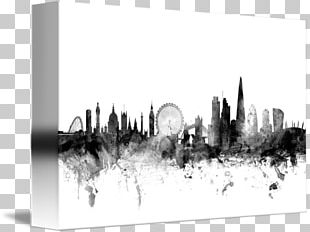 London Canvas Print Watercolor Painting Art PNG