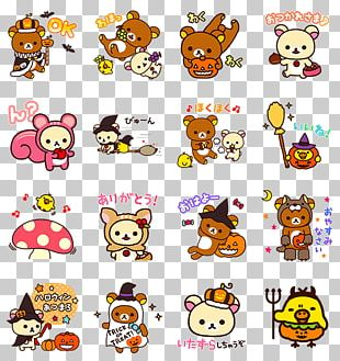 LINE Sticker Rilakkuma Hello Kitty Kavaii PNG