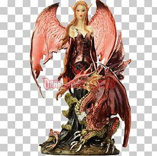 Fairy Statue Figurine Elf Dragon PNG