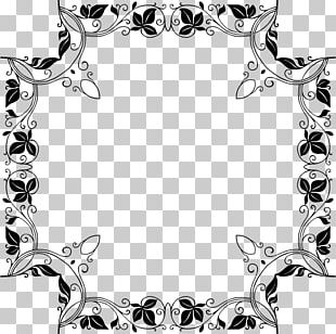 Borders And Frames Baroque Ornament Notan PNG