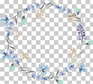 Watercolor Painting Wreath Flower Stock Photography PNG