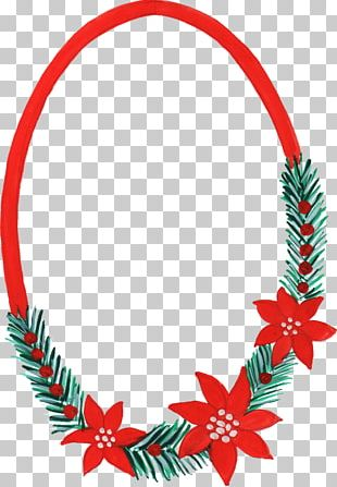 Watercolor Painting Christmas Ornament Frames PNG