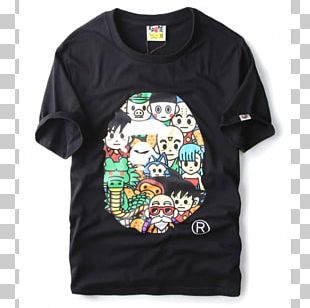 Long-sleeved T-shirt A Bathing Ape Long-sleeved T-shirt Harajuku PNG