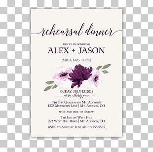 Wedding Invitation Paper Flower Rehearsal Dinner PNG