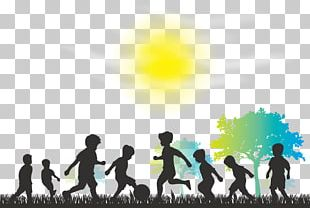 Child Silhouette Play Illustration PNG