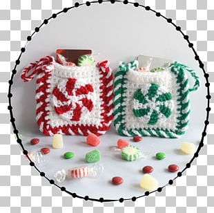 Crochet Candy Cane Christmas Ornament Santa Claus Pattern PNG
