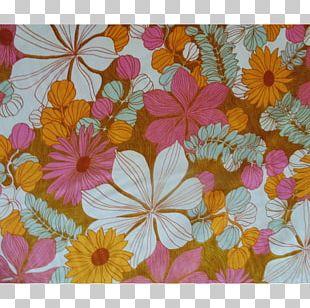 Floral Design Textile Vintage Flower Yard PNG