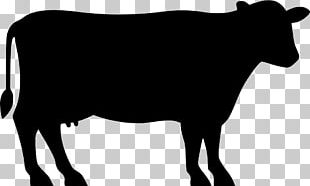 Angus Cattle Beef Cattle Silhouette PNG